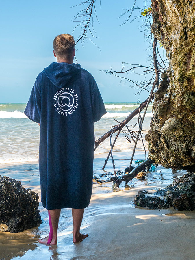 Atlantic Shore | Surf Poncho | Navy Blue | B2B Branding Children of the sea