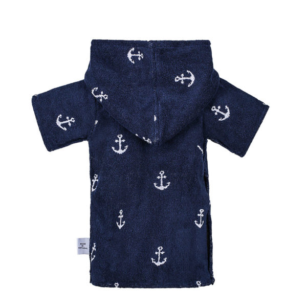 Atlantic Shore | Surf Poncho | Anchor | Baby | Navy Blue