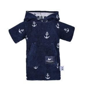 Atlantic Shore | Surf Poncho | Anchor | Baby | Navy Blue
