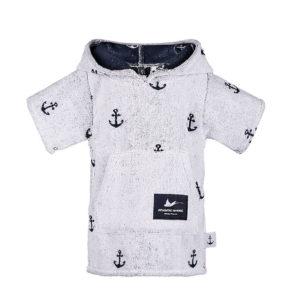 Atlantic Shore | Surf Poncho | Anchor | Baby | White