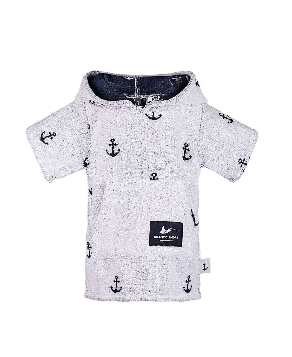 Atlantic Shore | Surf Poncho | Anchor | Baby | White