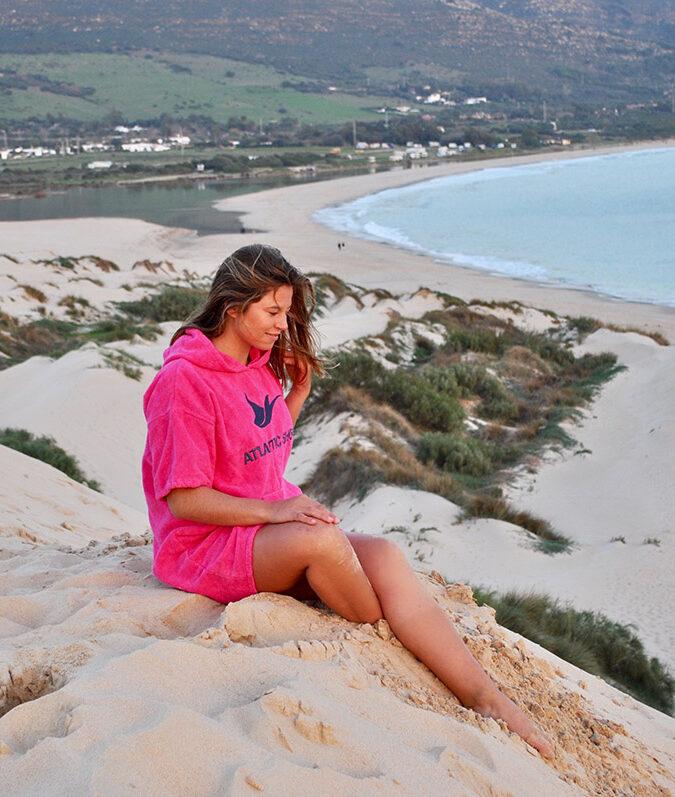 Atlantic Shore   Surf Poncho   Basic   Pink 1