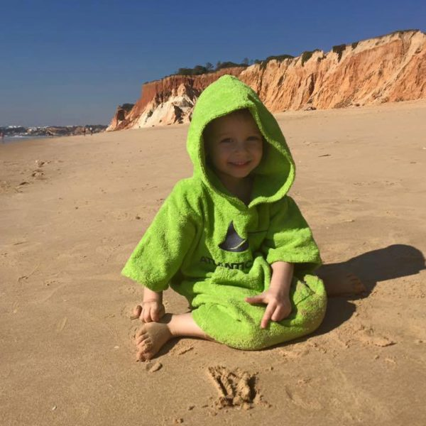 Atlantic Shore | Surf Poncho | Basic | Kids | Green 1