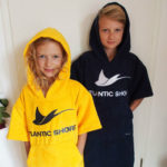 Atlantic Shore | Surf Poncho | Basic | Kids | Yellow & Navy Blue