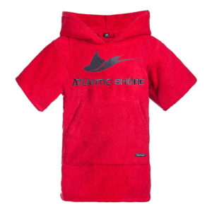 Atlantic Shore | Surf Poncho | Basic | Kids | Red