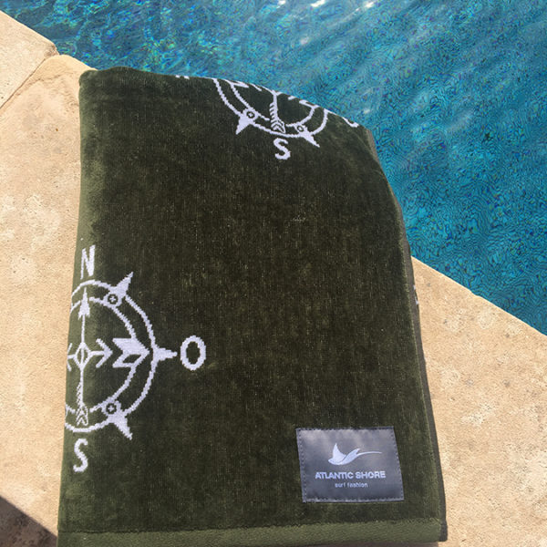 Atlantic Shore   Beach Towel   Handtuch   Compass