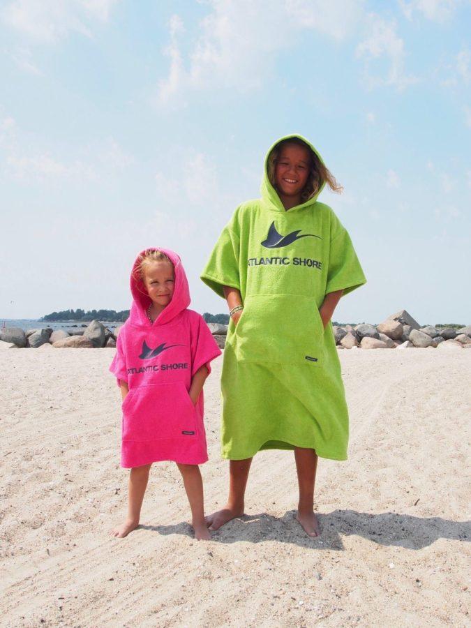 Atlantic Shore   Surf Poncho   Basic   Kids   Green & Pink